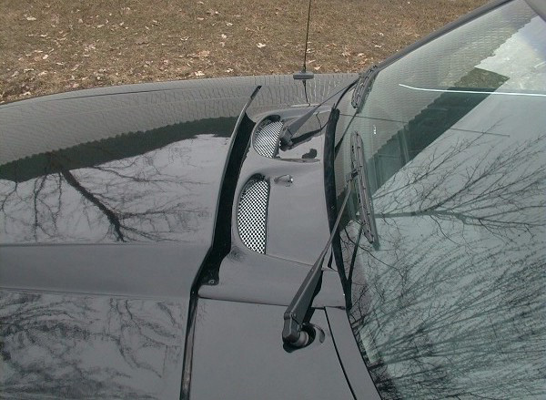 Ford mustang mustangs custom hood wiper cowl vent panel